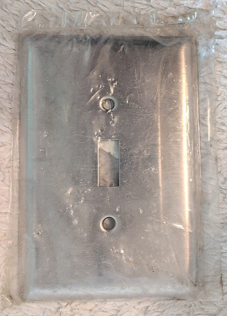 Hubbell SSJ1 Jumbo Smooth Stainless Steel Toggle Switch Wall Plate