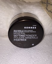 Korres Wild Rose Mineral Setting Powder Full Sz .29 Oz/8.5g New In Seale... - $13.92
