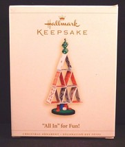 """""""All In"""" for Fun! - 2006 Hallmark Ornament - Poker Cards Dice Game Chris... - $17.81"""