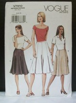 Vogue Misses Pattern V7910 Below Knee Flared Skirt Sizes 6, 8, 10 Uncut ... - $9.45