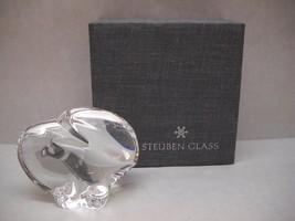 VINTAGE Steuben GLASS Hand COOLER Original BOX Eagle OVAL Shape Wing DETAIL - $112.85