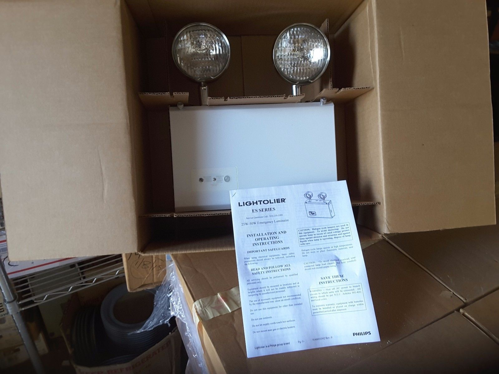 Philips Lightolier Emergency Exit Light And 50 Similar Items