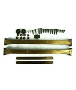 Pair Antique Brass Folding Hinge Slant Front Desk with All Original Hard... - $74.77