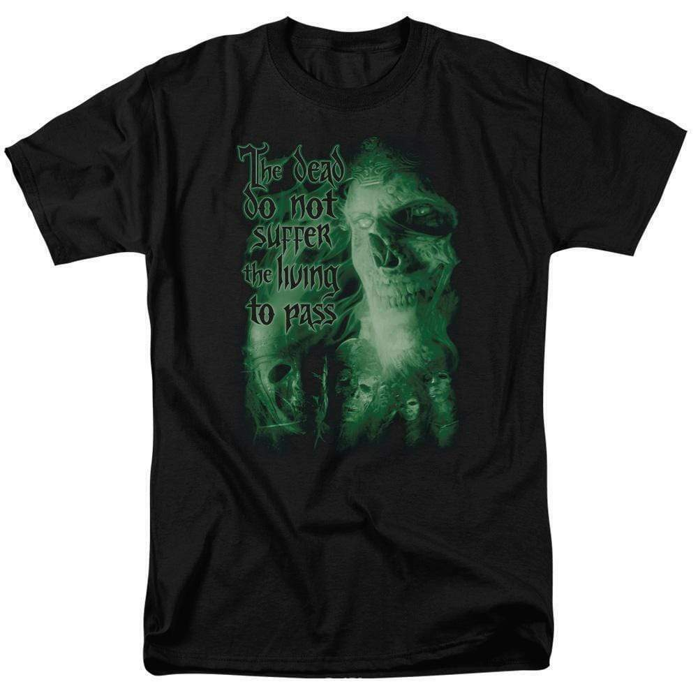 Lord of the Rings King of the Dead Do not suffer the living graphic tee LOR3009