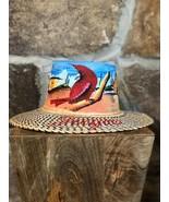 Wayuu Hat handWoven Straw Panama Hat Sun handpainted La Guajira Landscap... - $75.00