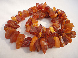 Huge Natural Raw Amber Baltic Butterscotch Honey Amber necklace 116 Grams. - $399.99
