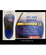 SofComfort All Day Work Gel Silvadur Insoles Men Sz 7-13 Two Pair - $9.99