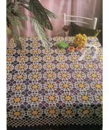 3X Bathroom Swan Mat Long Life Runner Entertainment Tablecloth Crochet P... - $5.50