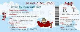Airplane Boarding Pass Birthday or Baby Shower Invitation, Custom - $0.99