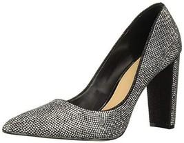 Jewel Badgley Mischka Women's RUMOR II Shoe, Black Fabric, 8 M US - $67.28