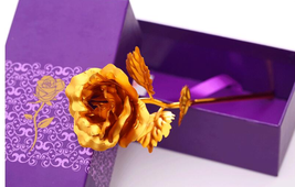 Gold Plated Rose 24k Flower Gift Romantic Valentine S Flowers Wedding Decor - $9.40