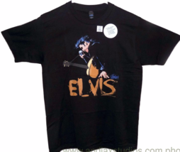Elvis Black Music Graphic T-Shirt - $16.11