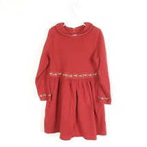 Gymboree Girls Sz 6X Red Floral Dress Embroidered Peter Pan Collar (V1-22) - $12.50