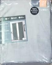 (1) Liz Claiborne JCPenney Holland Velvet GRAY Blackout Grommet Curtain ... - $56.09