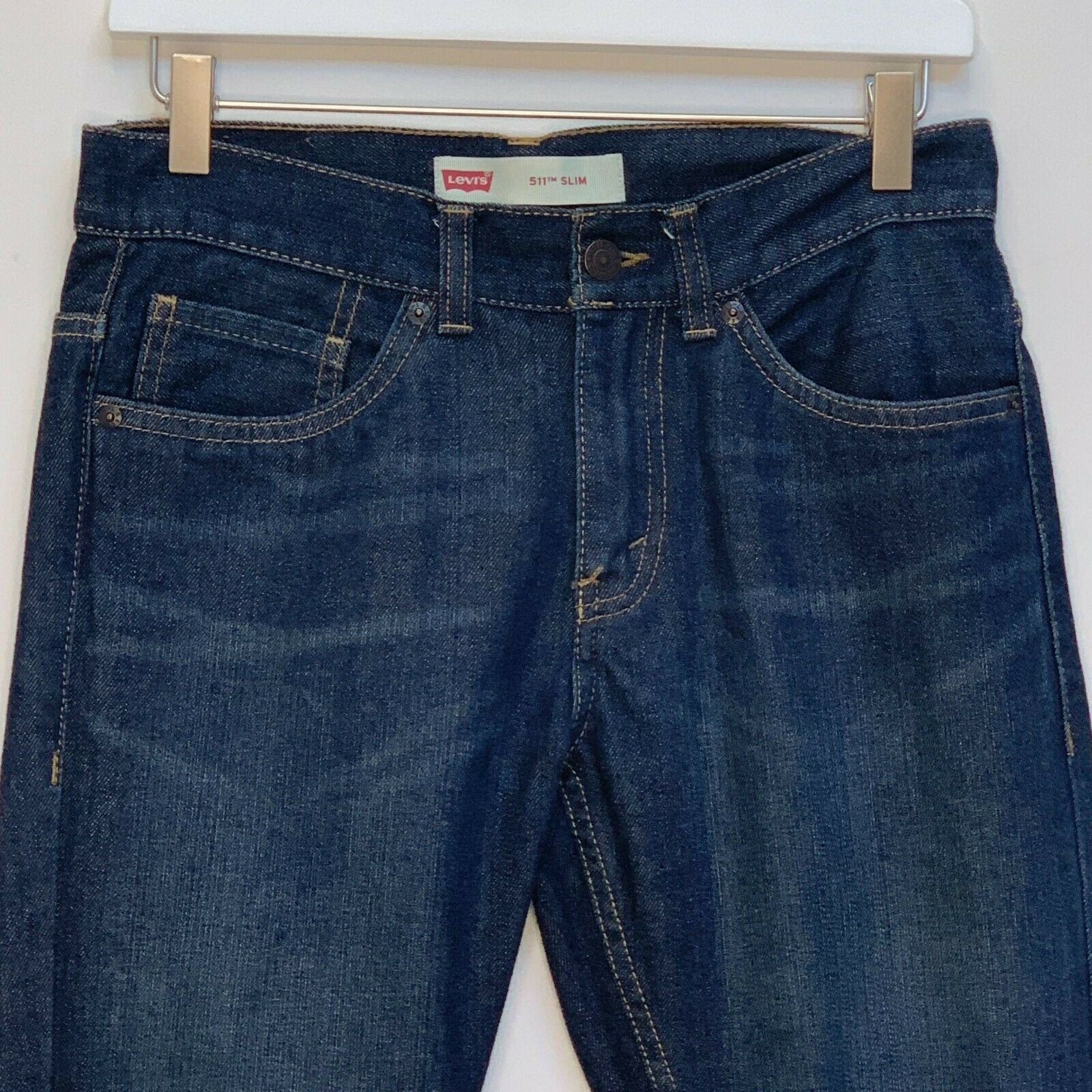 Primary image for Levi's 511 Girls Slim Fit Blue Jeans Size 16