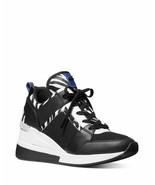 Michael Kors MK Women's Georgie Trainer Mesh Sneakers Shoes Zebra Print - $143.99