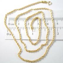 Kette A Seil Geflochten Gelbgold 750 18K, 40 45 50 60 cm, Dicke 2 MM - $166.22+