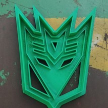 3D Printed Fan Art Cookie Cutter Inspired by Transformers Decepticons Em... - $7.00