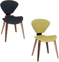 ARMEN LIVING Lisa Fabric And Walnut Wood Modern Chair - $129.69
