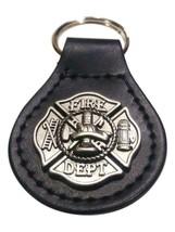 Metal Firefighter Seal, Leather Keyring - $10.00
