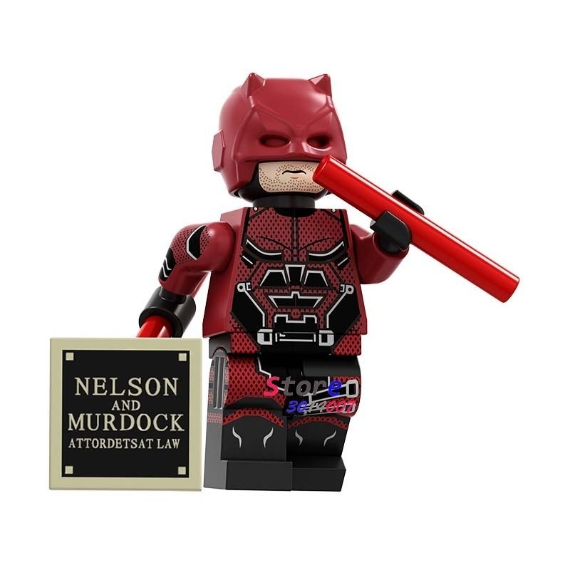 Son daredevil robin harley quinn deathstroke wonder woman joker spiderman figure building blocks