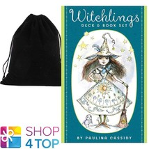 WITCHLINGS CARDS DECK & BOOK SET ESOTERIC US GAMES SYSTEMS WITH VELVET B... - $29.49