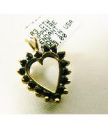 .83 ctw genuine Sapphire 10k yellow gold Heart Pendant $259 free shippin... - $133.85