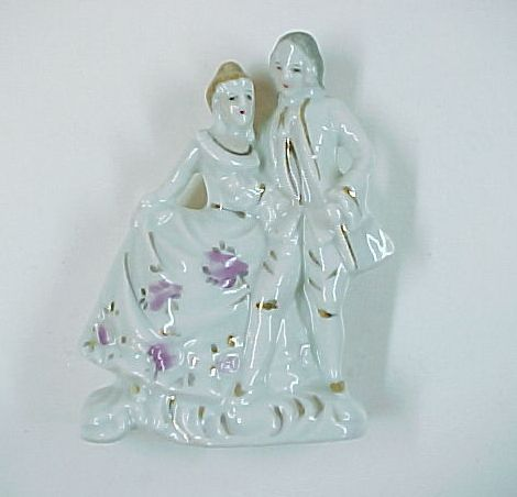 Vintage Mini Victorian Couple Made in Occupied Japan Porcelain Figurine