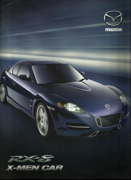 2003/2004 Mazda RX-8 X-MEN X2 CAR Press Kit brochure catalog Photo CD