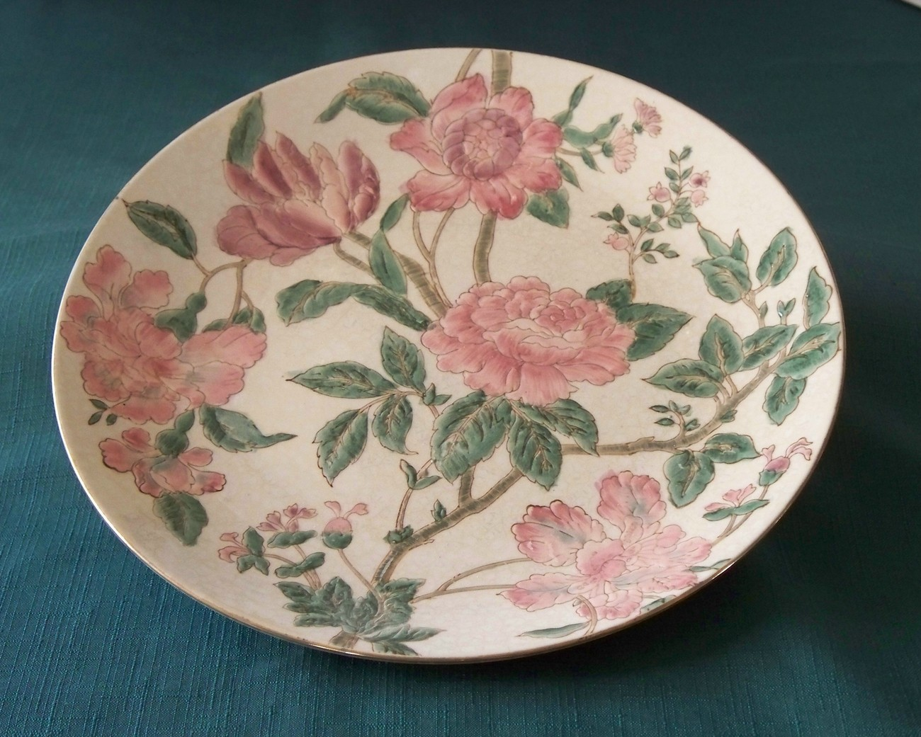 Decorative Floral Collectors Plate By Toyo Trading VGC