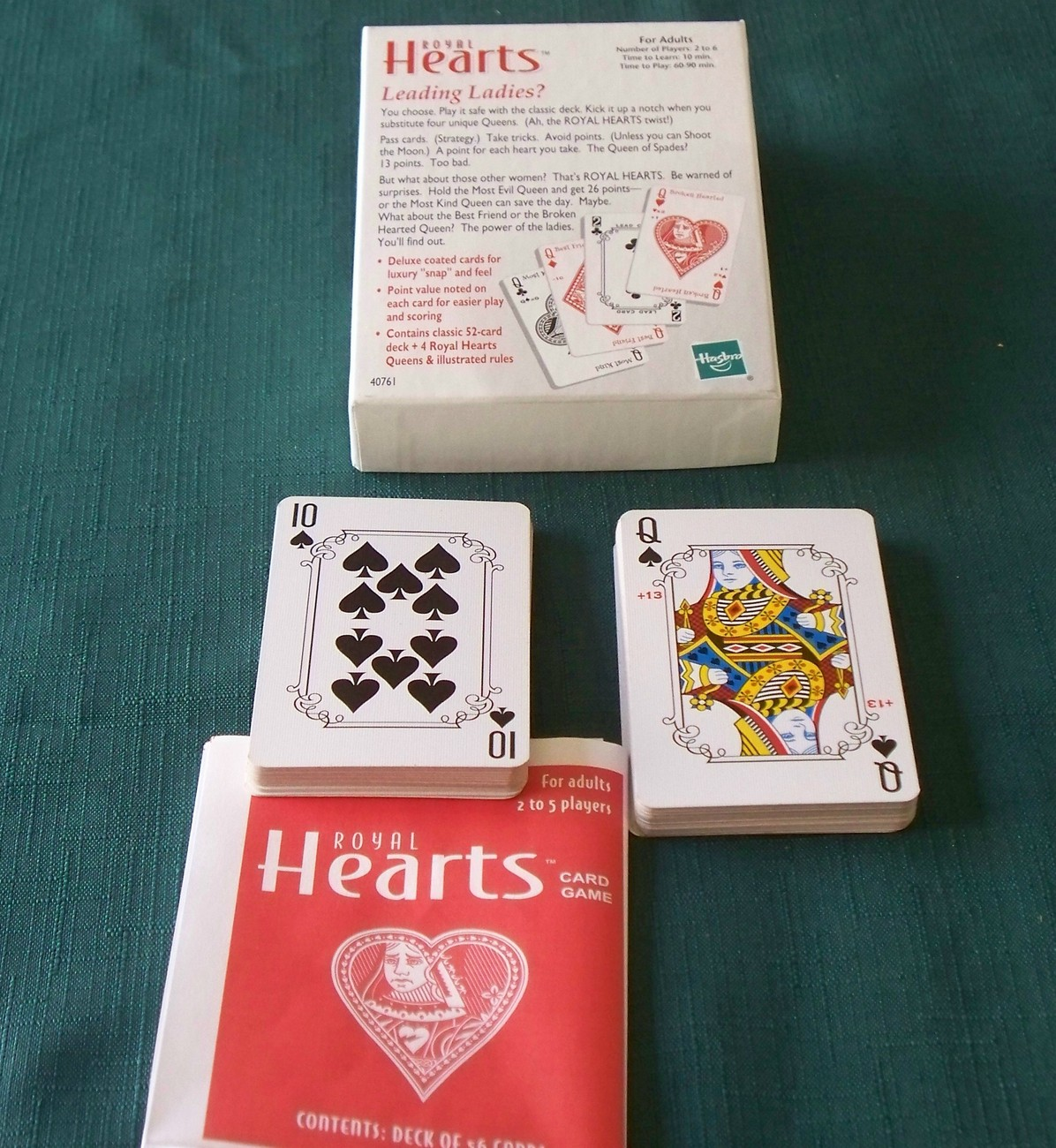 Royal Hearts Extra Queens Card Game Parker Brothers VGC