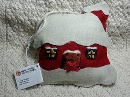"""COZY RED HOUSE"" Stuffed Felt Christmas Ornament - Wonderful Item!! - $3.00"