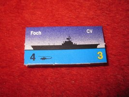 1988 The Hunt for Red October Board Game Piece: Foch Blue Ship Tab- NATO - $1.00