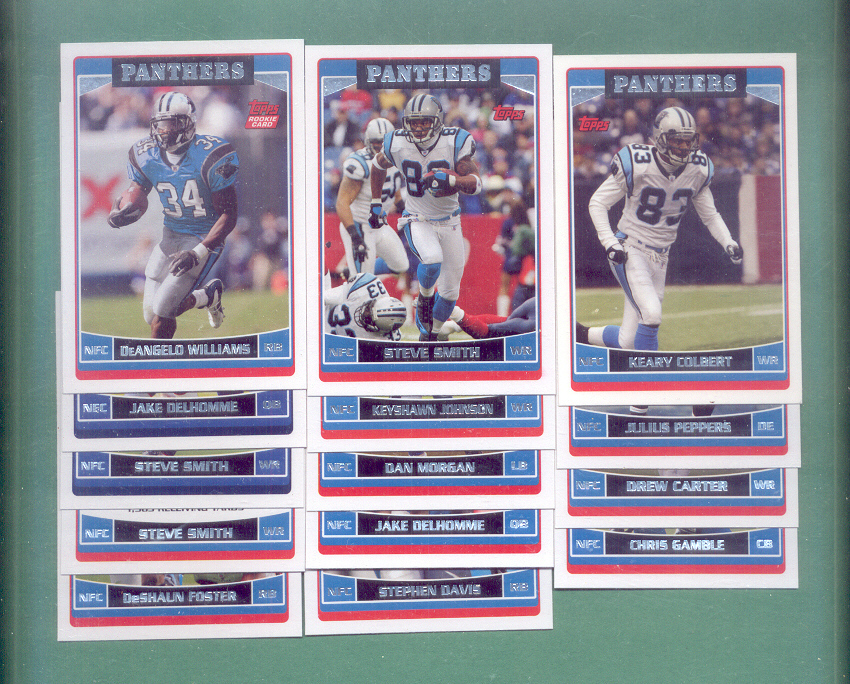 2006 Topps Carolina Panthers Football Team Set