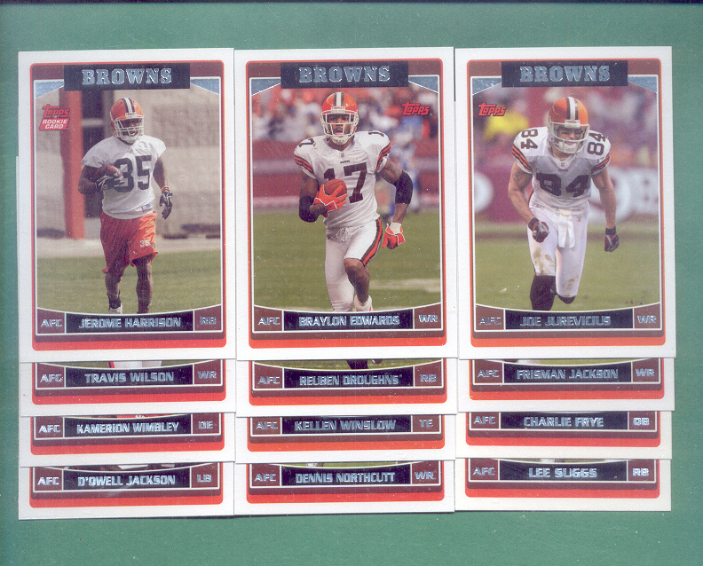 2006 Topps Cleveland Browns Football Set