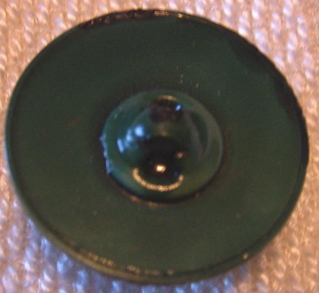 Green Swirl Celluloid Button BJs