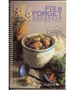 Fix & Forget 50 Slow Cooker Recipes 1989 Cookbook Currents - $5.00
