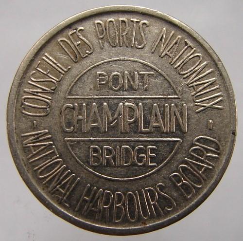 VINTAGE CANADA MONTREAL NATIONAL HARBOURS BOARD PONT CHAMPLAIN BRIDGE TOKEN