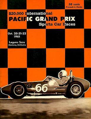 Primary image for 1961 Pacific Grand Prix Sports Car Races - Promotional Advertising Poster