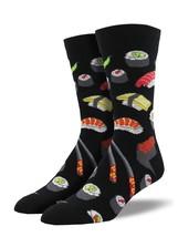 "Socksmith Men's Socks Novelty Crew Cut Socks ""Sushi"" / Choose Your Color!! - $12.39"