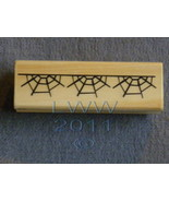 Wood-mounted Halloween Spider Web Rubber Stamp Scrap-booking  - $3.95
