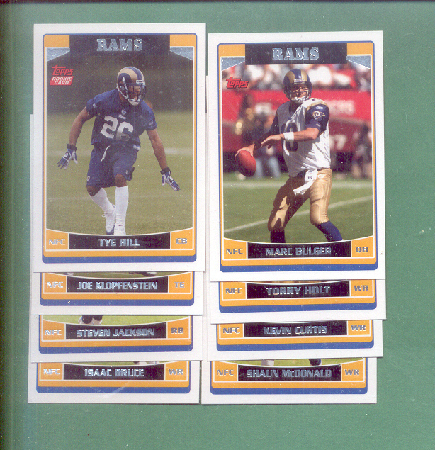 2006 Topps St. Louis Rams Football Set
