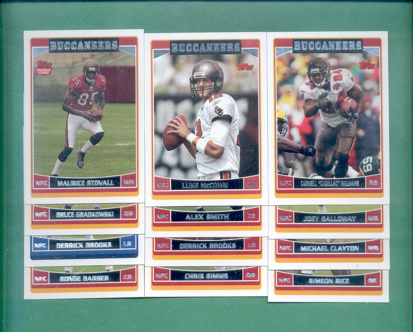 2006 Topps Tampa Bay Buccaneers Football Team Set