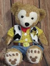 Disney Duffy Bear Hidden Mickey Plush Tan W/Woody Costume Toy Story Tedd... - $47.99