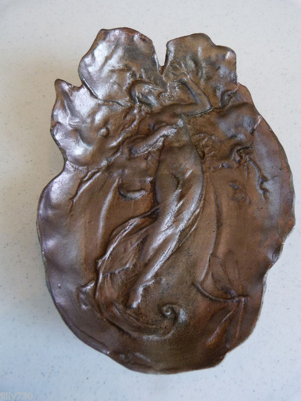 Lead Sculpture of Nude Female - Unusual Paperweight