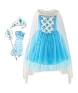 Girls Dress Elsa Princess Dress Up Accessories Crown Magic Wand 2019 Summer - $34.34+