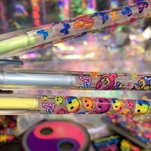 Lisa Frank Dream Writers Lot Stickers Notebook Keychain Pens Yin Yang Dragons image 3