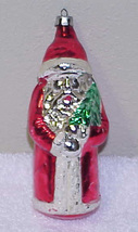 "Vintage 5"" Glass SANTA Christmas Ornament POLAND  - $10.00"