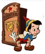 Pinocchio Authentic Disney  Auction Dressing Room Door pin on original Pin - $45.00