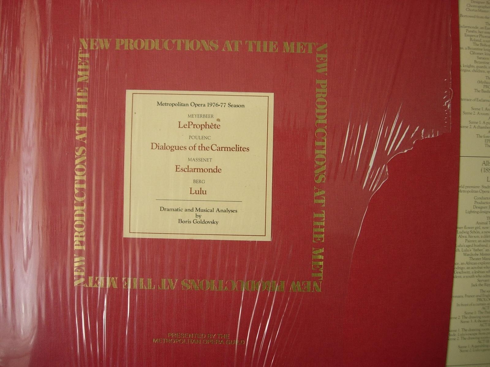 Boris Goldovsky - Metropolitan Opera 1976-77 Season - MET 201